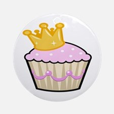 Princess Cupcake Ornament (Round)