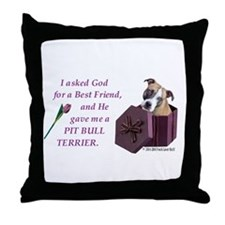 Cool Pit bull terrier items Throw Pillow