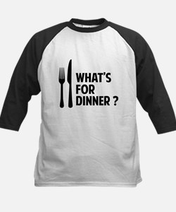 What's for dinner ? Kids Baseball Jersey