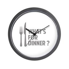 What's for dinner ? Wall Clock