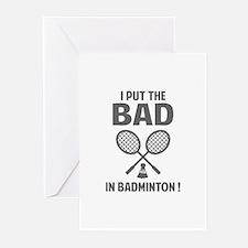 Bad in Badminton Greeting Cards (Pk of 10)