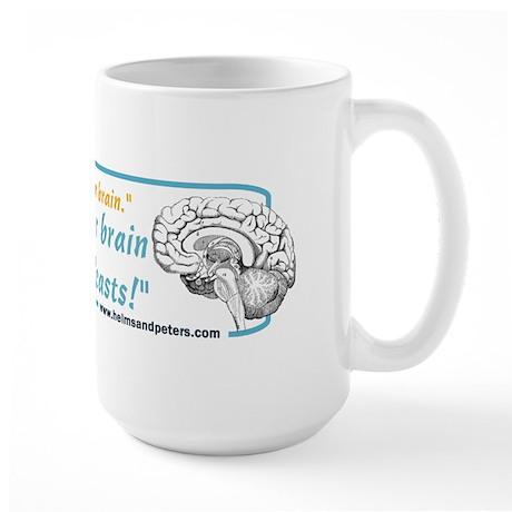 Brain on Podcasts Large Mug