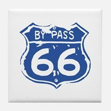 BY PASS 66 Tile Coaster