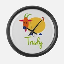 Trudy The Capricorn Goat Large Wall Clock