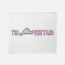 Martha's Vineyard MA - Map Design. Throw Blanket