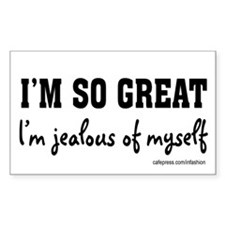 I'm so great! Rectangle Decal
