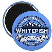 Whitefish Logo Blue Magnet