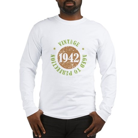 Vintage 1942 Aged To Perfection Long Sleeve T-Shir