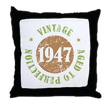 Vintage 1947 Aged To Perfection Throw Pillow