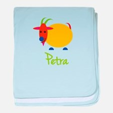 Petra The Capricorn Goat baby blanket