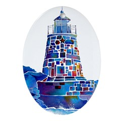 Castle Hill Lighthouse R.I. Ornament (Oval)