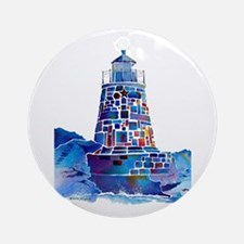 Castle Hill Lighthouse R.I. Ornament (Round)