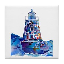 Castle Hill Lighthouse R.I. Tile Coaster