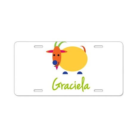 Graciela The Capricorn Goat Aluminum License Plate