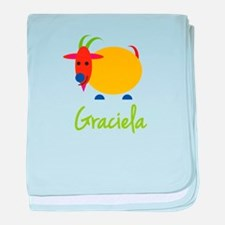 Graciela The Capricorn Goat baby blanket