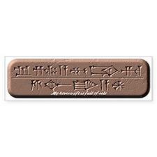 My Sumerian Hovercraft Bumper Sticker