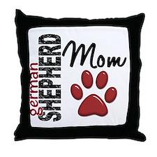 German Shepherd Mom 2 Throw Pillow