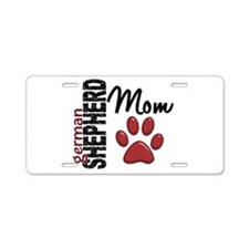 German Shepherd Mom 2 Aluminum License Plate