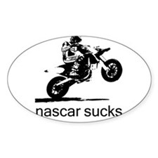 wheelie white nascar sucks Decal
