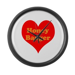 Love Honey Badger Large Wall Clock