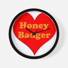 Love Honey Badger Wall Clock