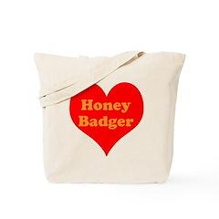 Love Honey Badger Tote Bag
