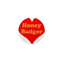 Love Honey Badger Mini Button (10 pack)
