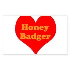 Love Honey Badger Decal