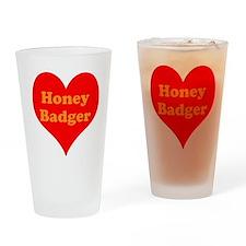 Love Honey Badger Drinking Glass