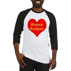 Love Honey Badger Baseball Jersey