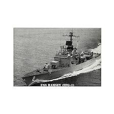 USS RAMSEY Rectangle Magnet