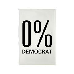 0% Democrat Rectangle Magnet (100 pack)