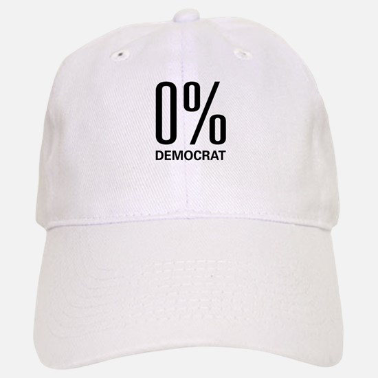 0% Democrat Baseball Baseball Cap