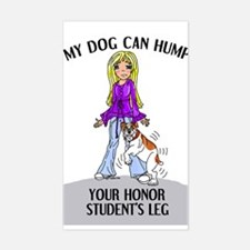 Bulldog Honor Student Rectangle Decal