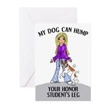 Bulldog Honor Student Greeting Cards (Package of