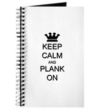 Keep Calm and Plank On Journal