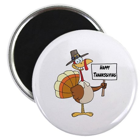Happy Thanksgiving Pilgrim Turkey Magnet