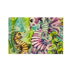 Seahorse Family Rectangle Magnet (10 pack)