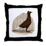 Flying Flight Red Pigeon Throw Pillow