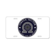 Omega Sector Aluminum License Plate