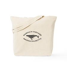 Martha's Vineyard MA - Whale Design. Tote Bag