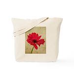 Red Gerbera Daisy Flower Tote Bag