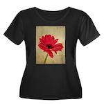 Red Gerbera Daisy Flower Women's Plus Size Scoop N