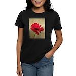 Red Gerbera Daisy Flower Women's Dark T-Shirt