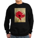 Red Gerbera Daisy Flower Sweatshirt (dark)