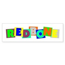 Redbone BLOCKS Bumper Sticker