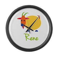 Rene The Capricorn Goat Large Wall Clock