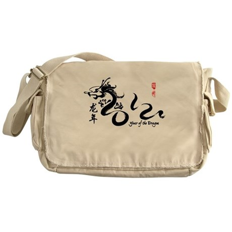 Year of the Dragon 2012 Black Messenger Bag