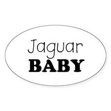 Jaguar baby Oval Stickers