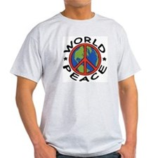 World Peace Ash Grey T-Shirt